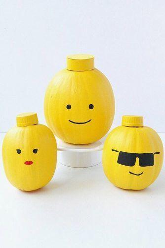 Lego Heads Pumpkin Decor #lego #legohead