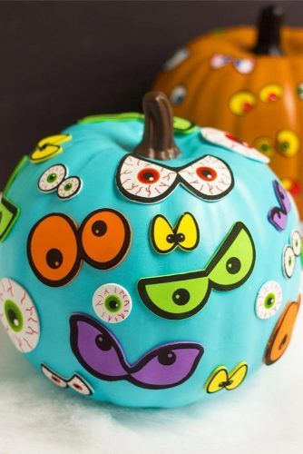Pumpkin Decorations With Scary Eyes #eyesdecorations