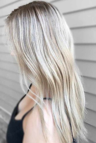 Blonde Balayage on Long Hair with Layers