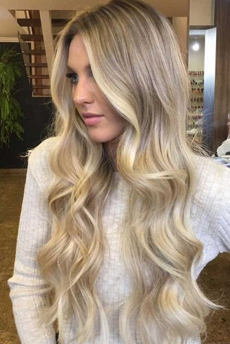 Wavy Locks for Long Layered Hair