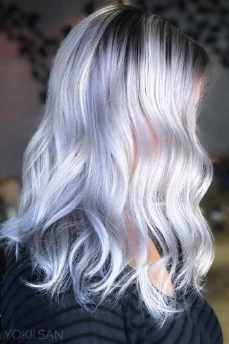 Ice Blonde for Medium Length Hair