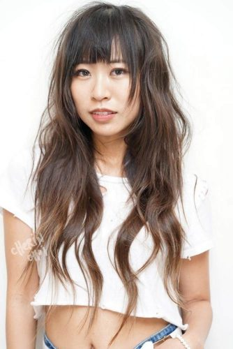 A Lot of Layers for Long Hairstyle with Bangs