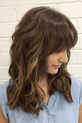 Medium Length Hair with Highlights