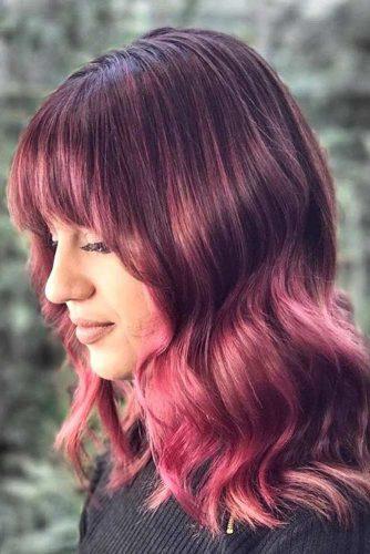 Raspberry Highlights and Balayage