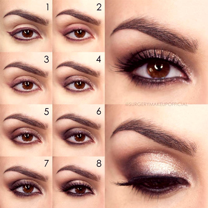 Makeup for Brown Eyes Step by Step picture 2