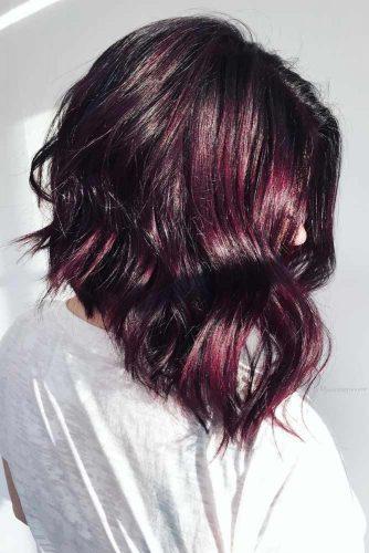 Rich Berry Colored Medium Hair