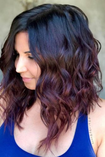 Lob Style for Long Layered Haircuts