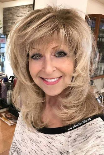 Layered Medium Length Hairstyles For Women Over 50