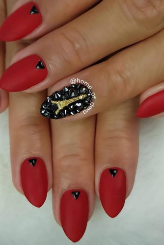 Elegant and Chic Red with The Eiffel Tower Art