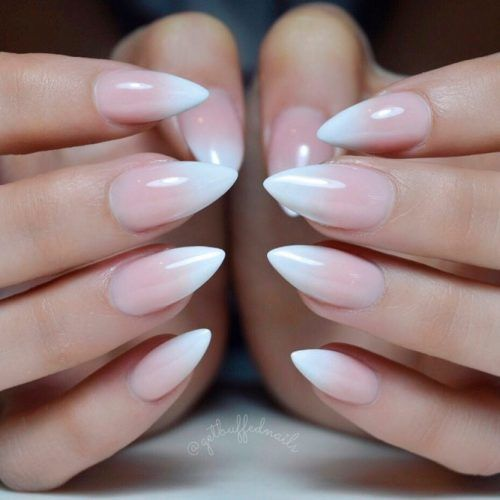 French Fade Nail Design #ombrenails #frenchnails