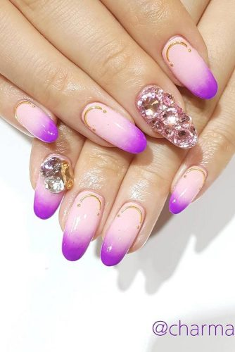 Lilac Ombre with Cristal Arts