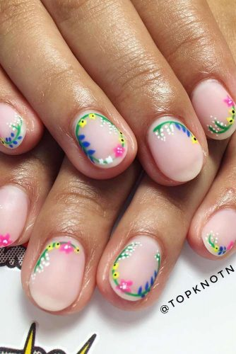 Flowers Nails Design