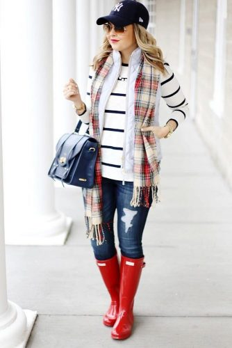 Chic Idea for Rainy Day Outfits