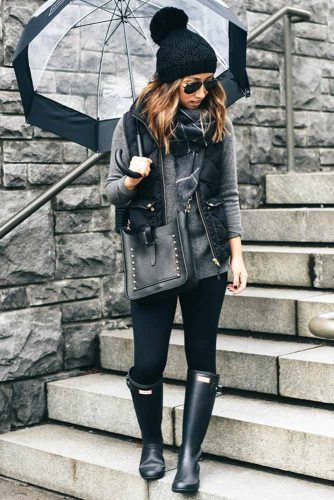 Casual Outfit with Rain Boots for Women