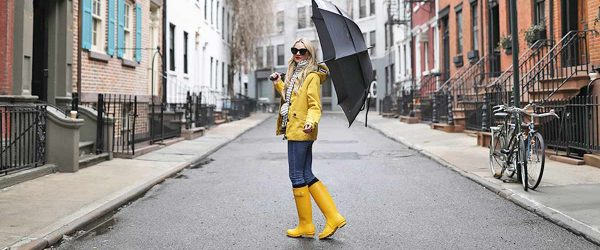 15 Stylish Outfits with Rain Boots for Fall and Winter Weather that Really Make a Splash!