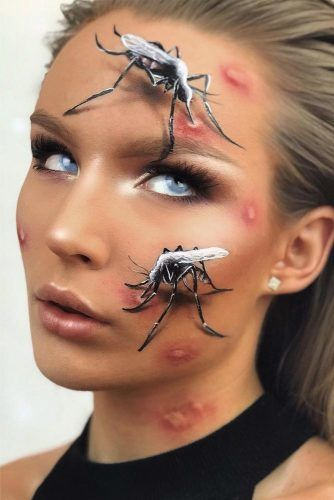 Mosquito 3D Makeup #faceart #mosquito