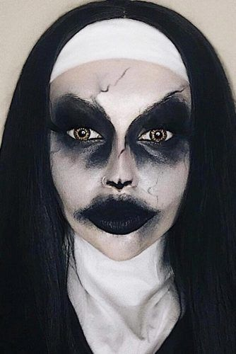 Nun Halloween Makeup #nunmakeup
