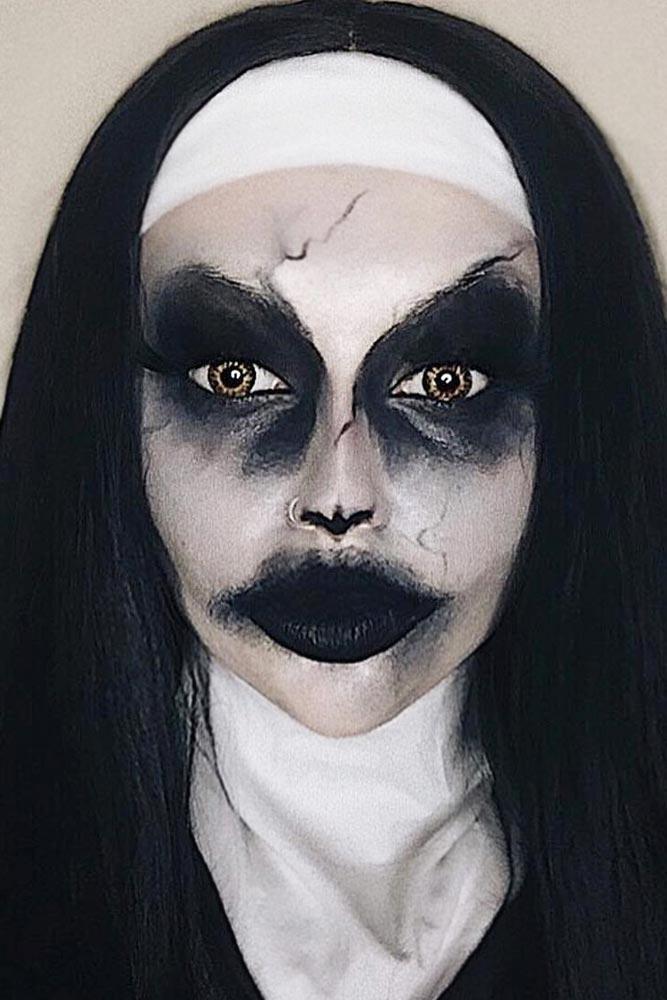 Nun Halloween Makeup #nunmakeup