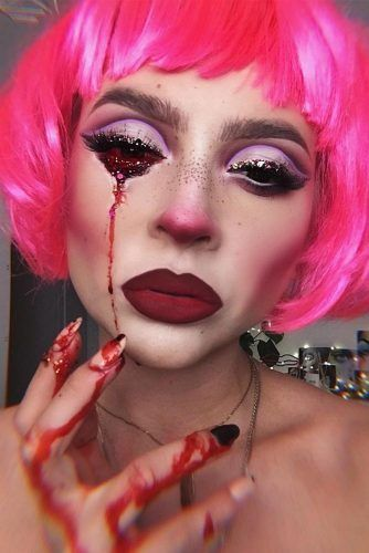 Bloody Scary Makeup #bloodyeyes