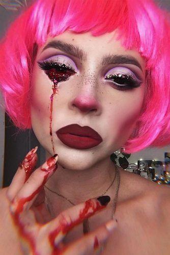 Bloody Scary Makeup #bloodyeyes