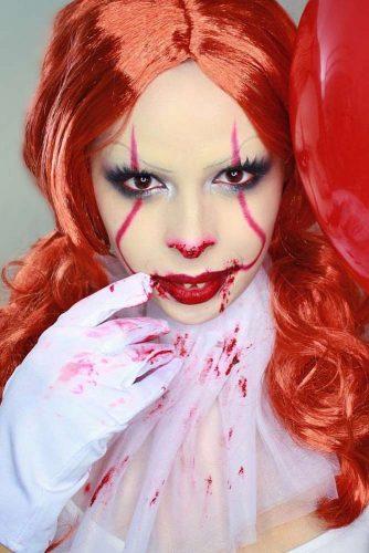 Bloody Clown Makeup Art #clown #creepyclown
