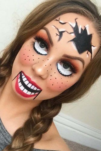 Scary Doll Halloween Makeup #dollmakeup