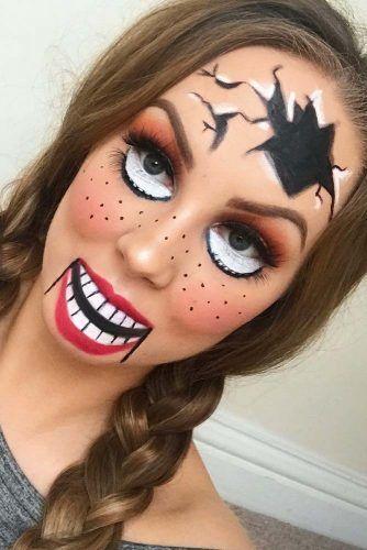 Scary Doll Halloween Makeup #dollmakeup