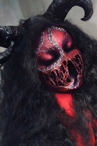 Scary Devil Halloween Makeup #devil #monster