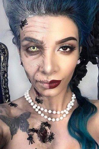 Dorian Gray Makeup Idea #halffaceart #doriangray