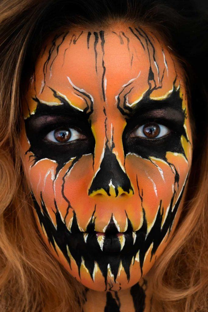 Scary Pumpkin Halloween Makeup