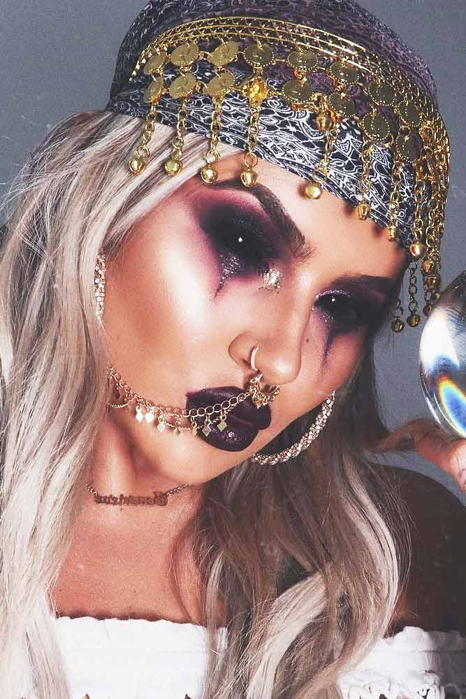 Creepy Predictor Halloween Makeup #predictor