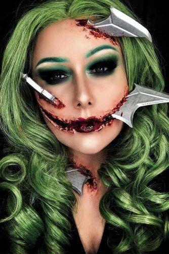 3D Cuts Halloween Makeup #3dcuts