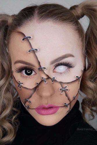 Stitched Doll Make Up Idea