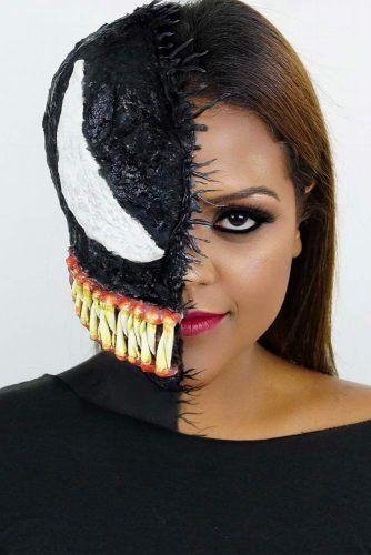 3D Venom Halloween Makeup #venommakeup