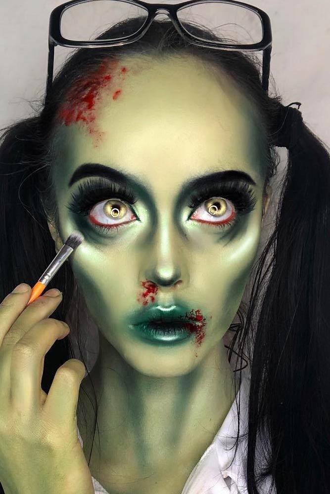 Zombie Halloween Makeup #zombiemakeup