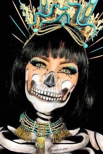 Egyptian Skeleton MAkeup Idea #egyptianprincess