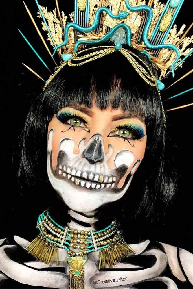 Egyptian Skeleton MAkeup Idea #egyptianprincess