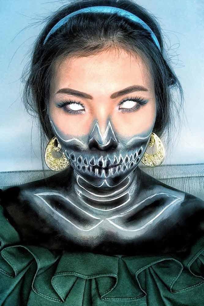 Neon Princess Skeleton Makeup #neonskeleton