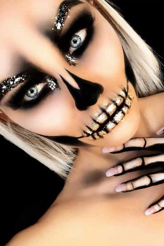 Newest Skeleton Makeup Ideas pictiure 5