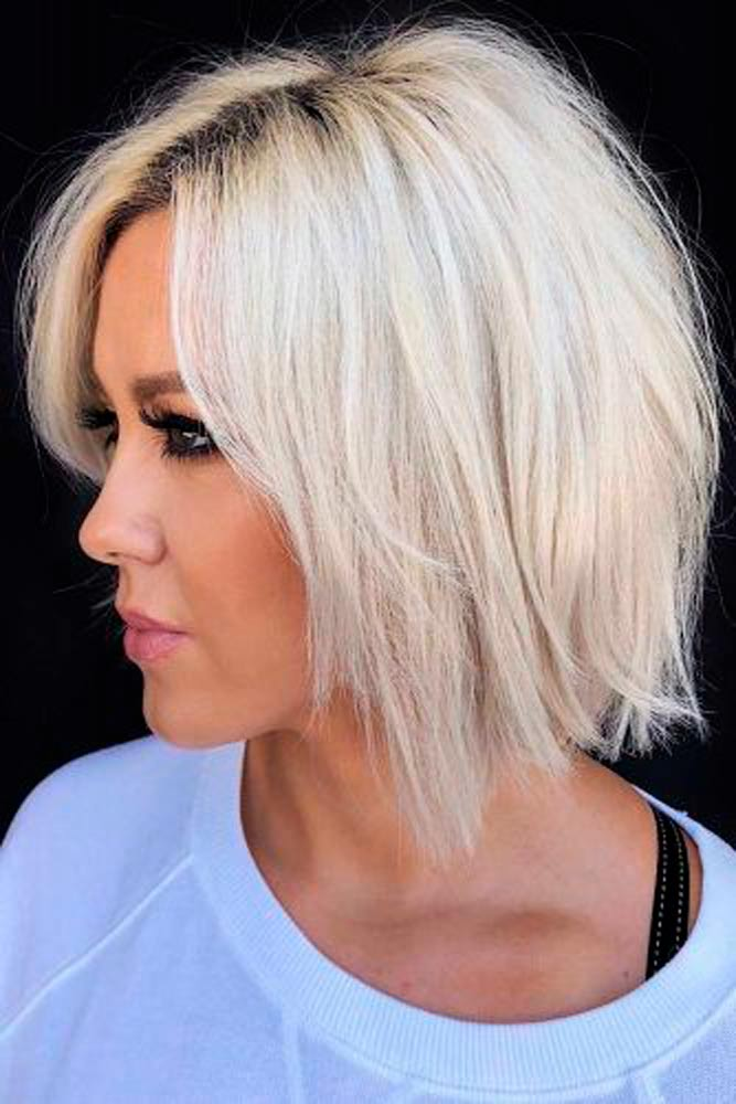 Bright Blonde Bob #shorthairstyle #blondehair