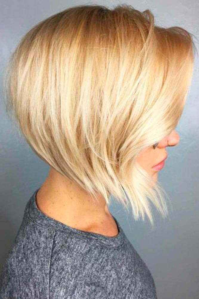 Graduated Blonde Bob #shorthaircut #blondehair