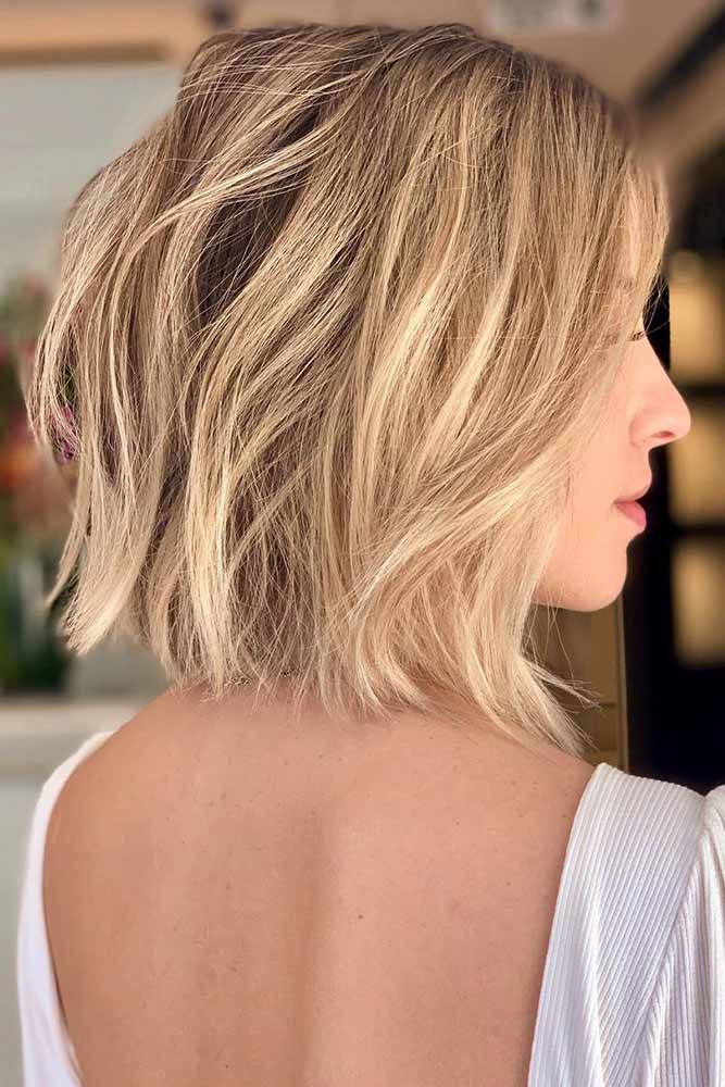 Blonde Razor Cut Bob #blondehair #razoredcuts