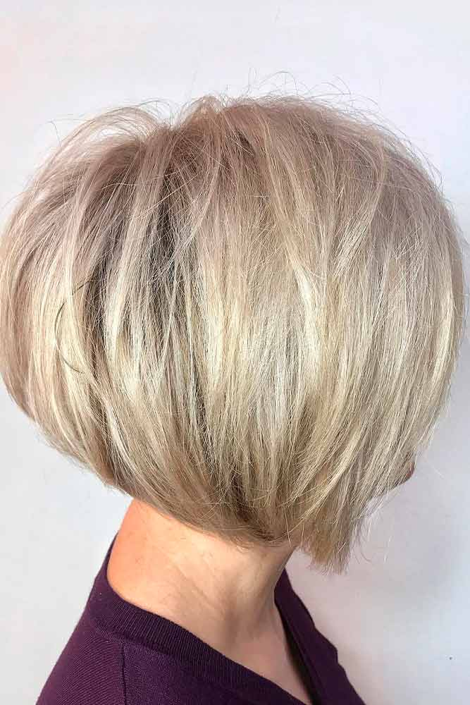 Rounded A-line Bob #alinebob #blondebob