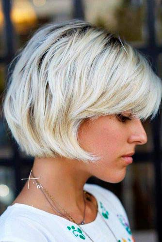 Textured Short Bob #shorthair #blondehair