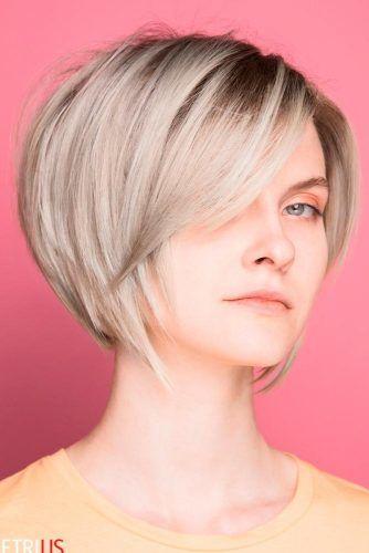 Sleek Layered Pixie Bob #shorthair #blondehair