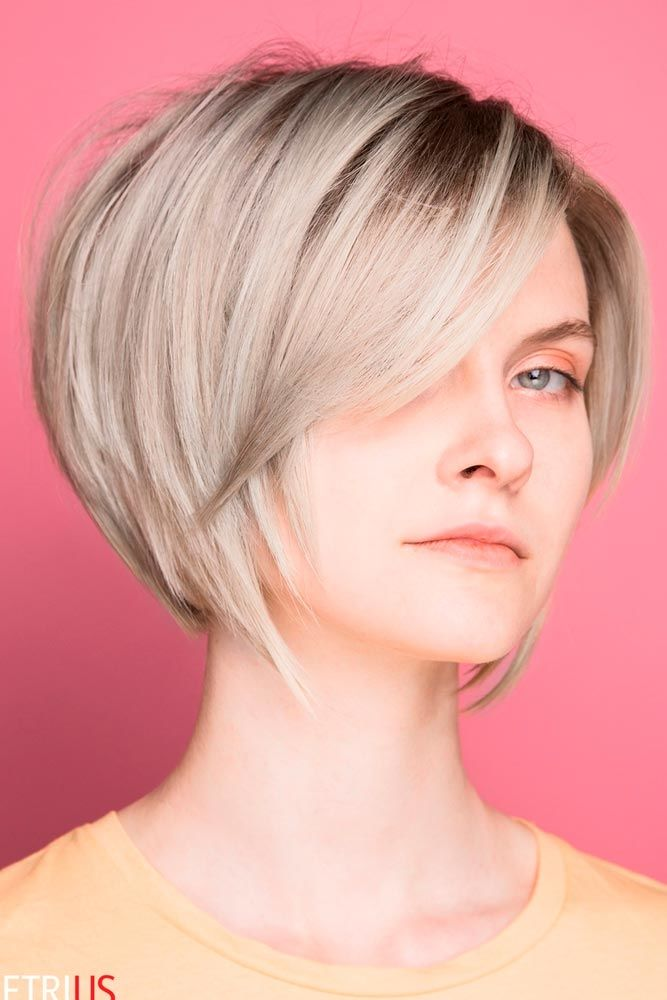 Sleek Layered Pixie Bob #shorthair #blondehair