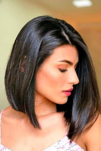 Long Bob With Subtle Layers #brunette #longbobhair