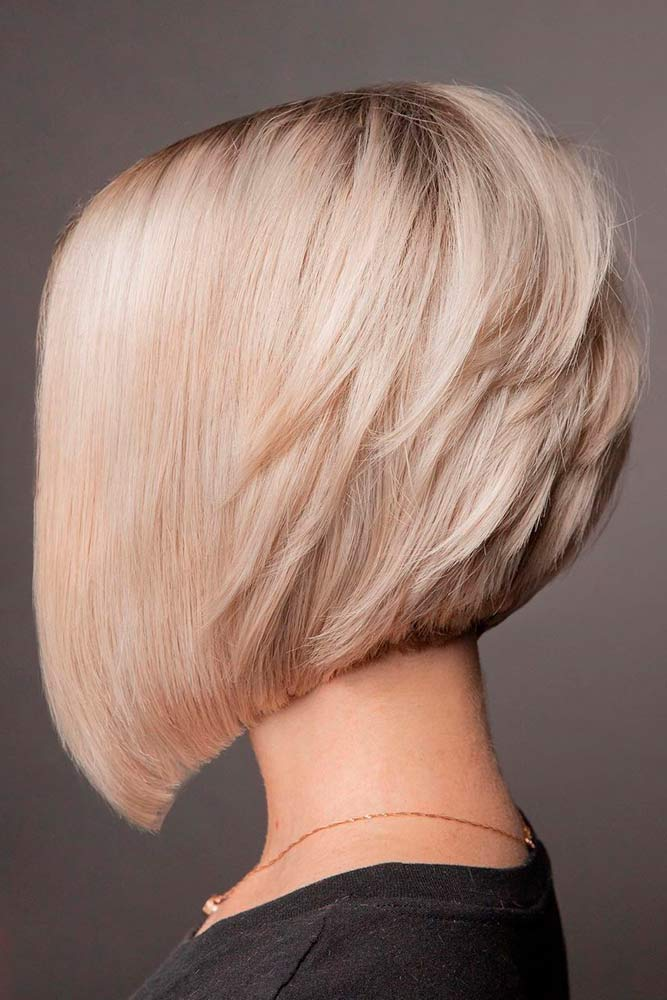 Inverted Shattered Bob #invertedbob #blondehair
