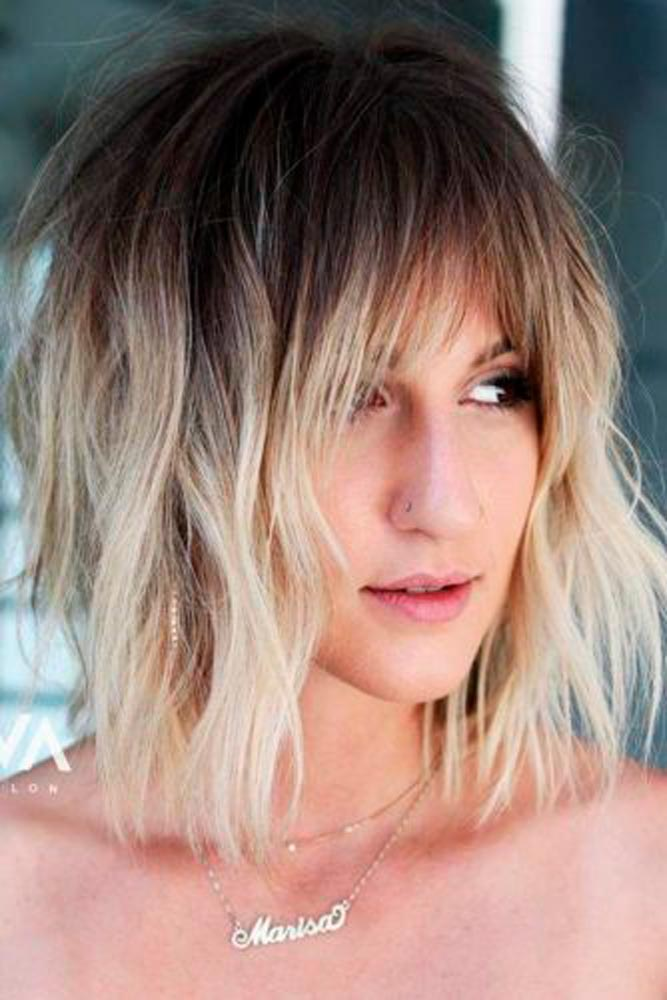 Shaggy Layered Ombre Hair #shaggyhair #ombrehair
