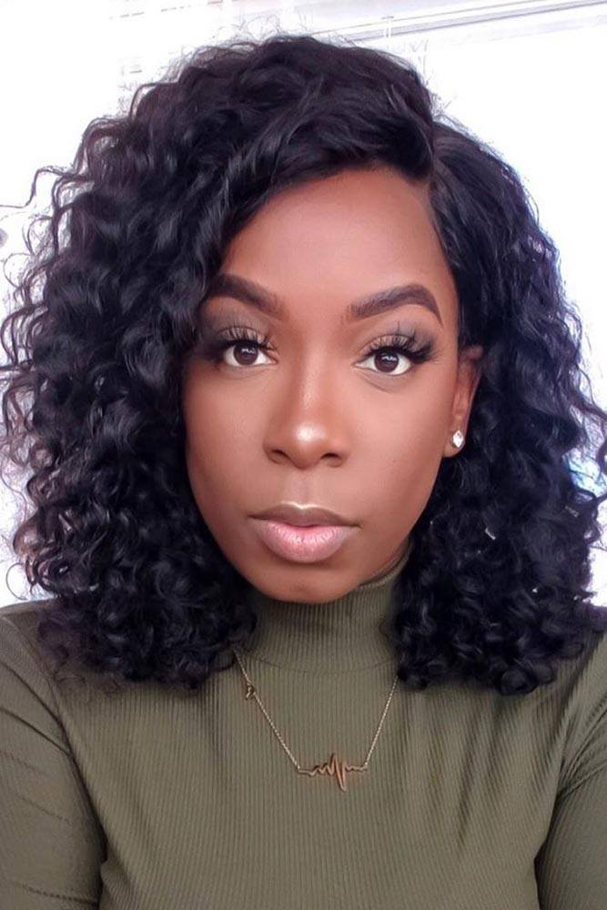 Wavy Long Bob For Natural Hair #naturalhair #curls